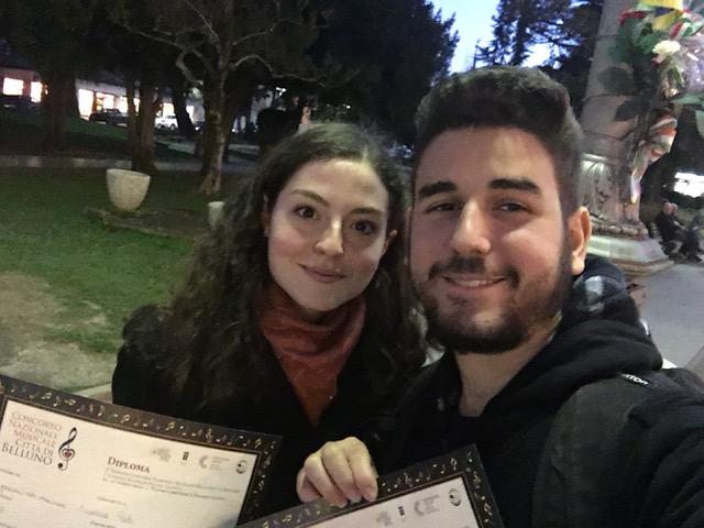 Arianna Pati e Nicola Petricci – 1° Premio – Concorso Nazionale Musicale Città di Belluno