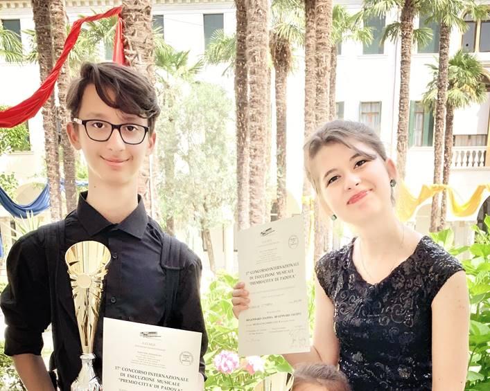 """Fratelli Fiamma e Jacopo Di Gennaro – 17' Concorso Internazionale di esecuzione Musicale """"Città di Padova"""""""